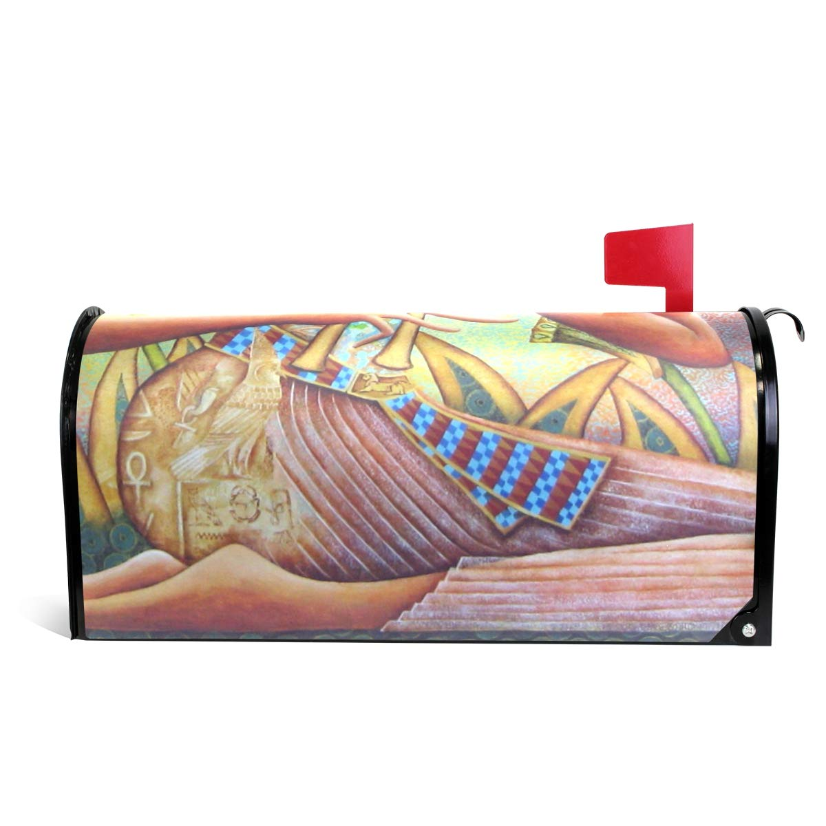 CiCily Magnetic Mailbox Cover Egypt Woman Decoration for House Garden by CiCily