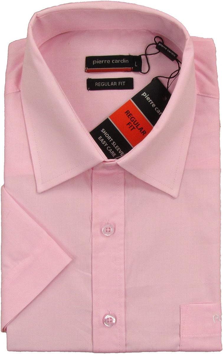 Pierre Cardin - Camisa formal - Manga corta - para hombre rosa Small: Amazon.es: Ropa y accesorios