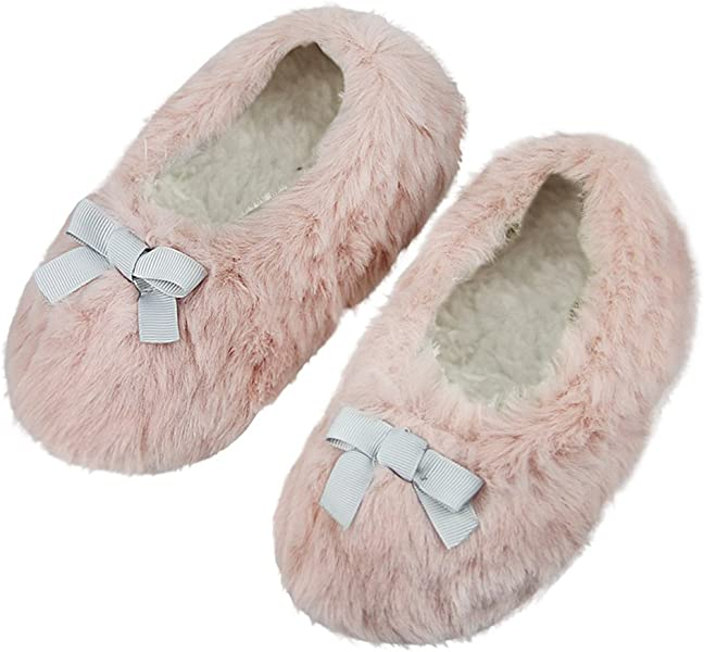 8b73a9da7 Amazon.com | Kids Bunny Plush Bootie Slippers Warm Winter Non-Slip Shoes  Boots for Girls Boys | Slippers
