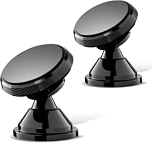 Magnetic Phone Car Mount, eSamcore Powerful Magnets Car Mount Holder for Dashboard with Strong Adhesive, Fits All iPhone Samsung Galaxy Smartphone [2 Pack]