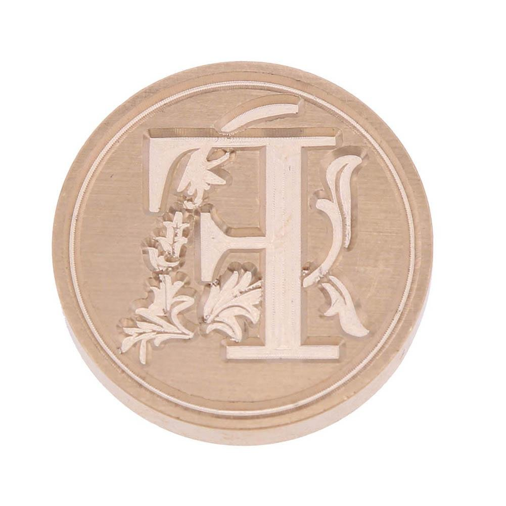Sello de cera de, nelnissa Retro flor carta F-N sobre barras de cera para lacrar sello de cobre Post Decor