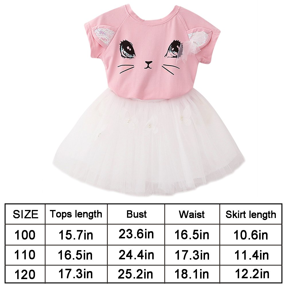 Tutu Skirt Aibearty Little Girl 2PCS Clothing Set T-Shirt