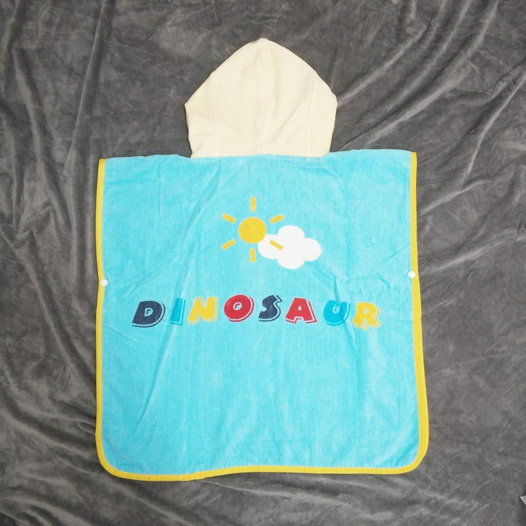 baskuwish Toddler//Kids Hooded Plush Robe Animal Fleece Bathrobe Children Cartoon Animals Hooded Bath Towel Pajamas