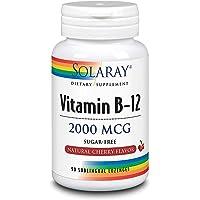 Solaray Vitamina B-12 2000 mcg   Cereza  