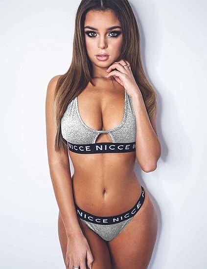 9b2a3b79bc9 Amazon.com: Xixou Womens Sexy Sports Bra Sets Racerback Cropped Tops ...