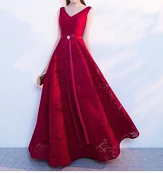 HDHG Vestidos de Noche Rojos del Banquete Vestidos de Boda Nupciales Vestidos de la Tostada Vestidos