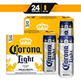 Cerveza Clara Corona Light lata de 2 12 pack de 355ml c/u total 24 latas