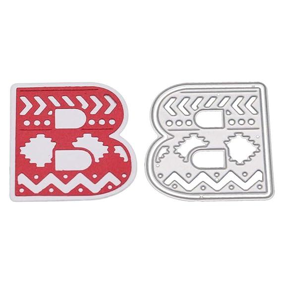 JiaMeng DIY Plantilla de Letra del Alfabeto A-Z Troqueles de Corte de Metal Arte de Papel de Scrapbooking de Bricolaje (A): Amazon.es: Ropa y accesorios