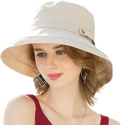 SOMALER Women's Cotton Wide Brim Sun Hats