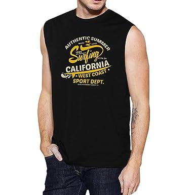 55734508fa5 365 Printing Authentic Summer Surf California Mens Black Muscle Shirt Summer  Top