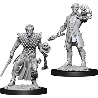 Nolzur's Marvelous Miniatures Wizkids - D&D Male Human Warlock -WZK73836: Toys & Games