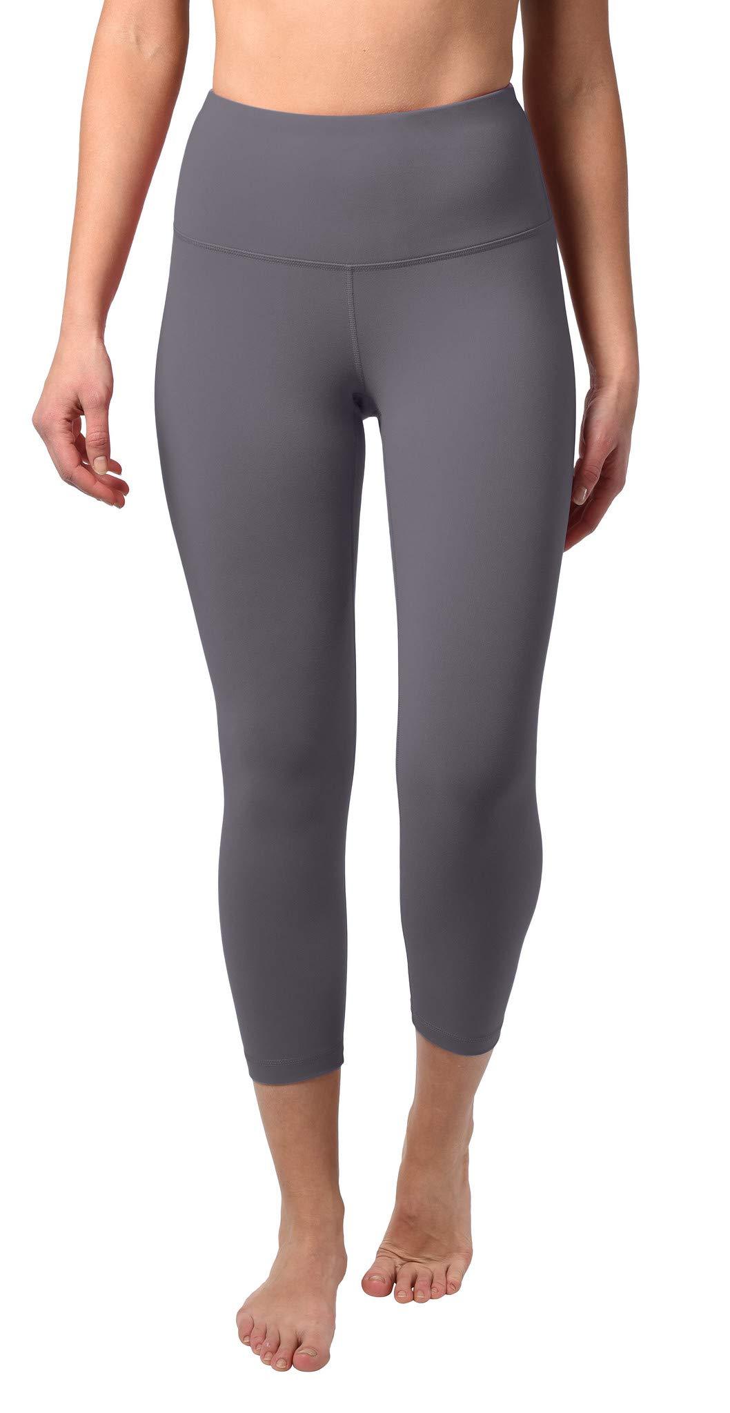 90 Degree By Reflex - High Waist Tummy Control Shapewear - Power Flex Capri - Purple Moon - XS by 90 Degree By Reflex