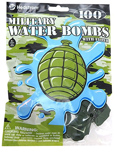 Hedstrom 1,000 Count Military Grenade Water Bombs (Balloon Grenade)