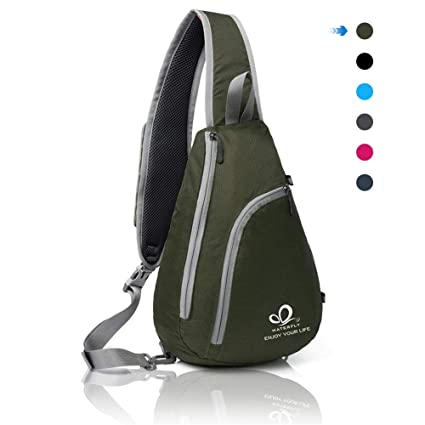 WATERFLY Chest Sling Shoulder Backpacks Bags Fashion Cute Crossbody Rope  Triangle Rucksack for Hiking or Multipurpose b4cd3d7828cde
