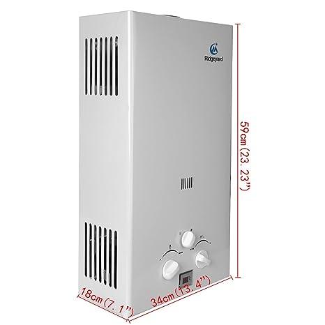 iglobalbuy 10L GLP Propano Gas Calentador instantáneo caliente calentador de agua caldera: Amazon.es: Bricolaje y herramientas