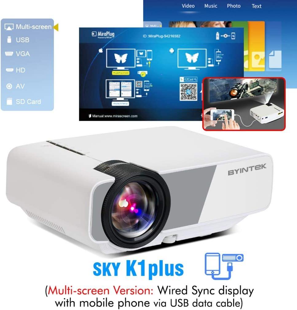 WHLDCD Proyector Mini proyector LED portátil de Cine en casa HD ...