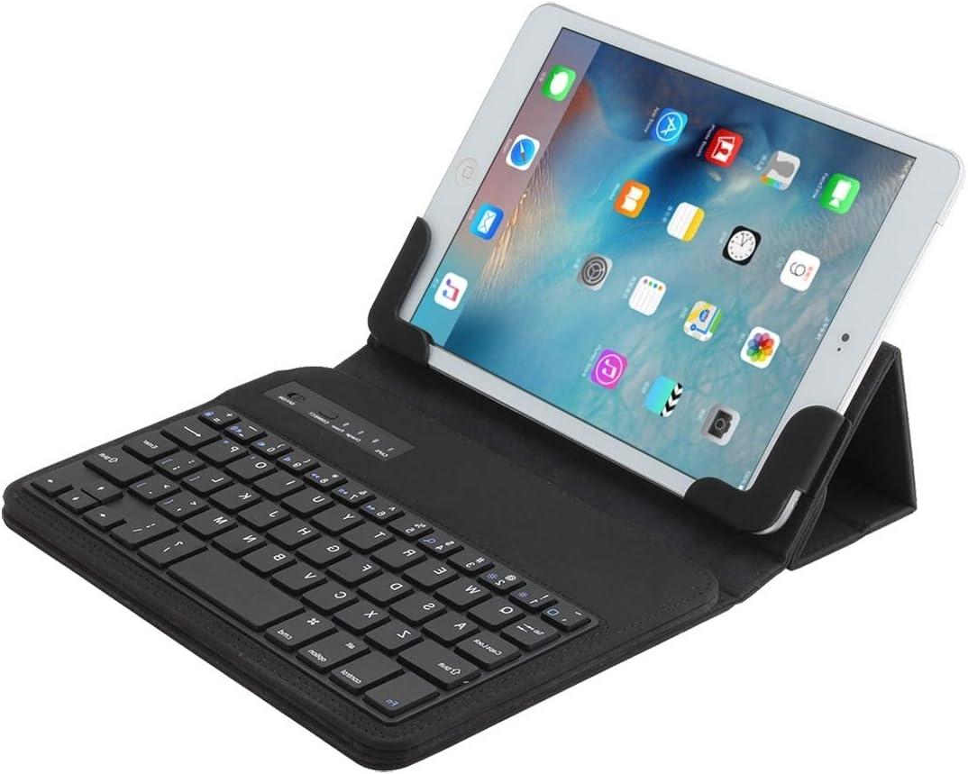 Sevenplusone De ideale keuze, geniet van het universele Bluetooth V3.0, afneembaar toetsenbord van PU-leer voor tablets met 17,8 cm (7 – 8 inch) en uitstekende bescherming. (zwart), Rood Zwart