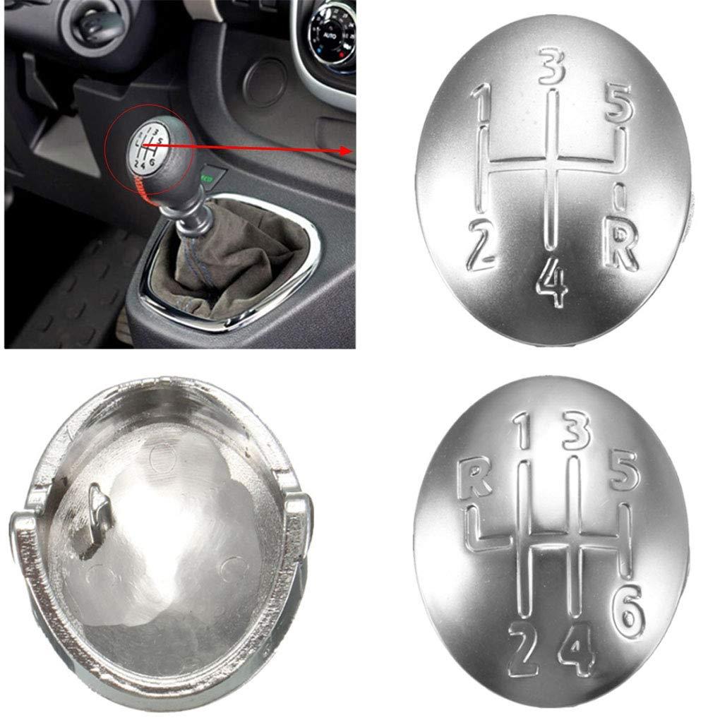 Provide The Best 2 Piezas de 5//6 Velocidad de Cambio de Marcha sustituci/ón para Cubrir protecci/ón de la Palanca Perilla para Renault Clio Megane Scenic AMS