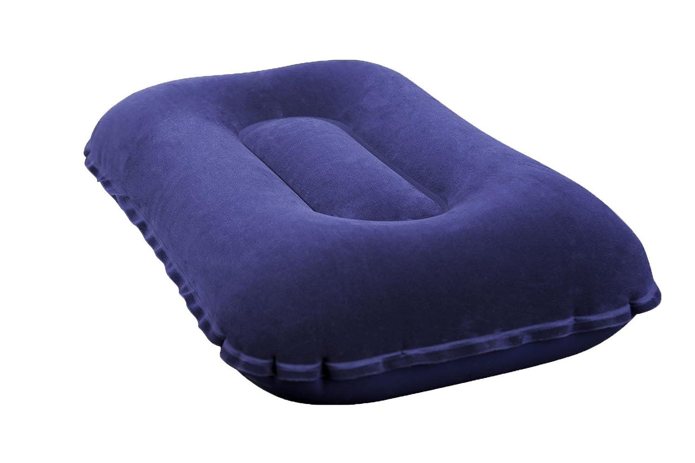 Bestway® Flocked Air Camp Pillow hinchable de/Asiento Cojín reposacabezas, 42 x 26 x 10 cm, Muchos Colores