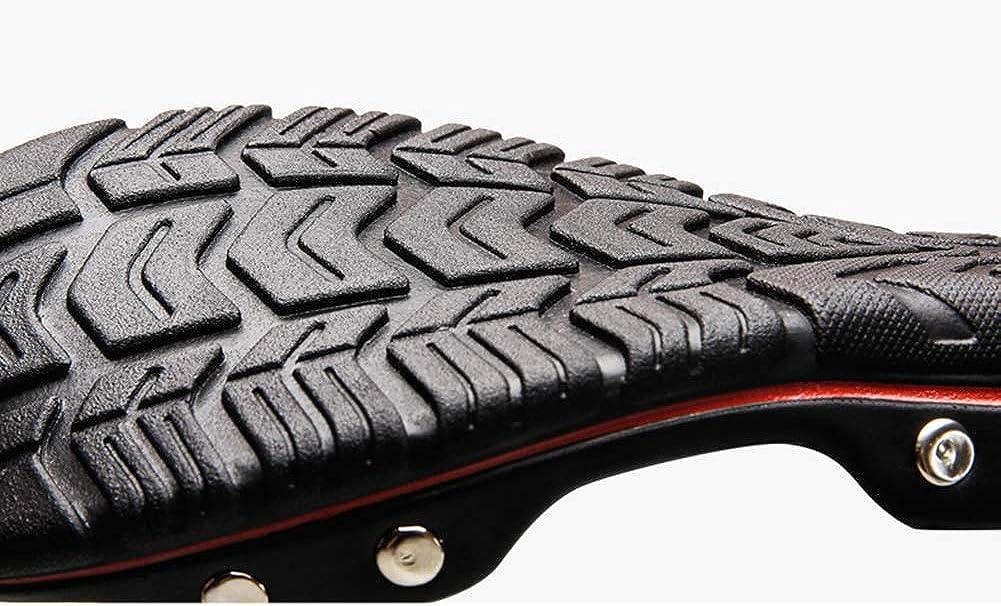 Baviue Mens Leather Summer Indoor Beach Slide Sandals