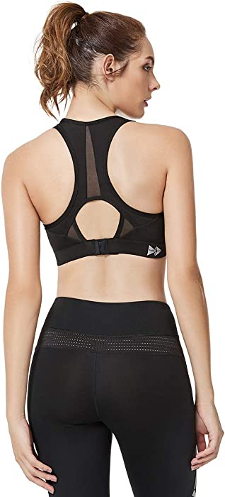7c040373837b2 Yvette Women s Compression Sports Bra-High Impact Support Full Figure Plus  Size Wirefree Strappy Workout. Back