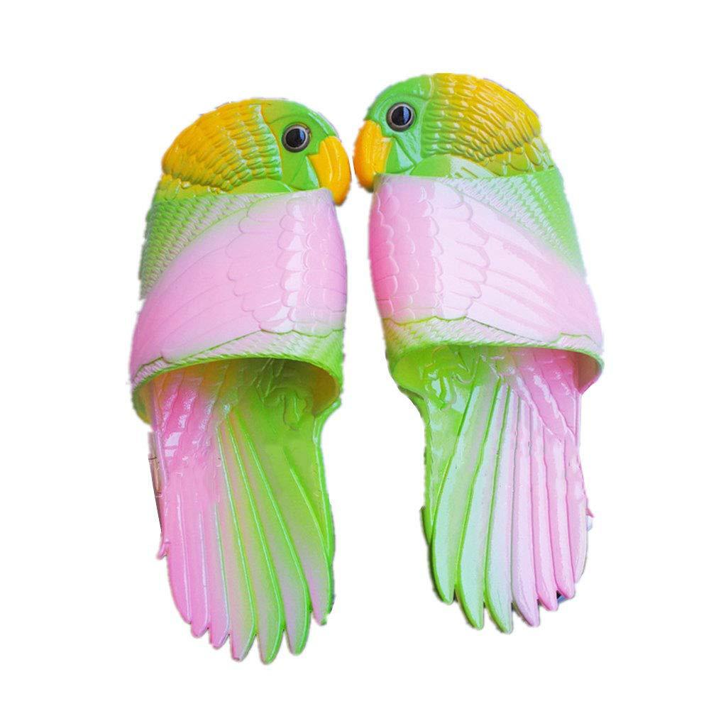 Zapatillas De Padres E Hijos 3D Simulaci/ón Linda Dibujos Animados Loro Personalidad Respirable Antideslizante Durable Ni/ños Sandalias De Verano