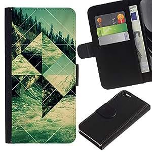 EJOY---La carpeta del tirón la caja de cuero de alta calidad de la PU Caso protector / Apple Iphone 6 / --Edificio Religioso Forma Arte