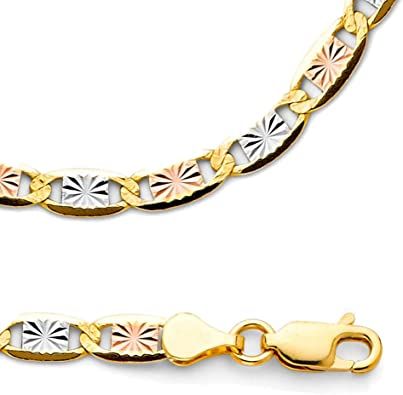Amazon Com Zenjewels Solid 14k Yellow White Rose Gold Chain Necklace Star Diamond Cut Tri Color 4 2 Mm 20 Inch Jewelry Just type we'll trim, tag, title and upload your perfect quality clip, all in the cloud. amazon com