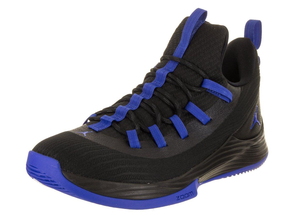 more photos 7ff96 4a609 Jordan Nike Men's Ultra Fly 2 Low Black/Hyper Royal White Basketball Shoe 9  Men US