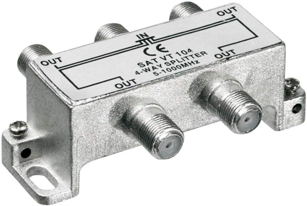 Premium Cord - Divisor de Antena (4 entradas, 5-1000 MHz ...
