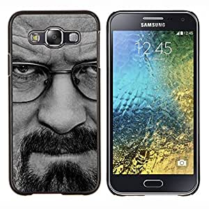 "Be-Star Único Patrón Plástico Duro Fundas Cover Cubre Hard Case Cover Para Samsung Galaxy E5 / SM-E500 ( Rompiendo Meth - Walter W"" )"