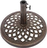 umbrella base cast iron - Trademark Innovations Cast Iron Umbrella Base - 17.7 Inch Diameter (Bronze)