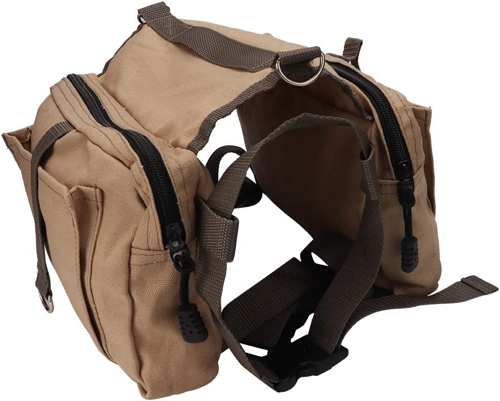 Hffheer Dog Pack Hound Backpack Zaino Multifunzione per Cani Borsa da Sella da Viaggio Escursionismo Attrezzatura da Passeggio Zaino per Animali da Compagnia/per Cani di Taglia Media e Grande