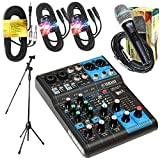 6 channel digital mixer - Yamaha Package Bundle - Yamaha MG06X 6-Channel Mixer + EMB Emic800 Microphone + 2 XLR XLarge Cables + 3.5mm to Dual 1/4