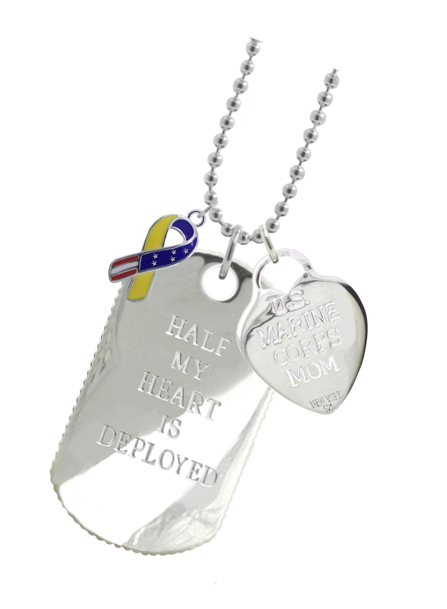 New York 925 & Co. Solid Sterling Silver Marine Mom Dog Tag YR