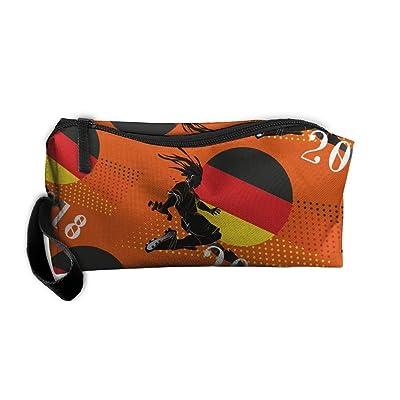 2018-play-football-Germany 3D Printing Handy Makeup Bags Zipper Travel Bags