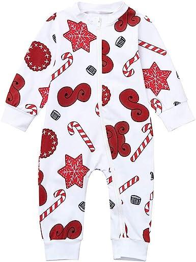 POLP niño Regalo Navidad Bebe Mono Pijama Cremallera El botón ...
