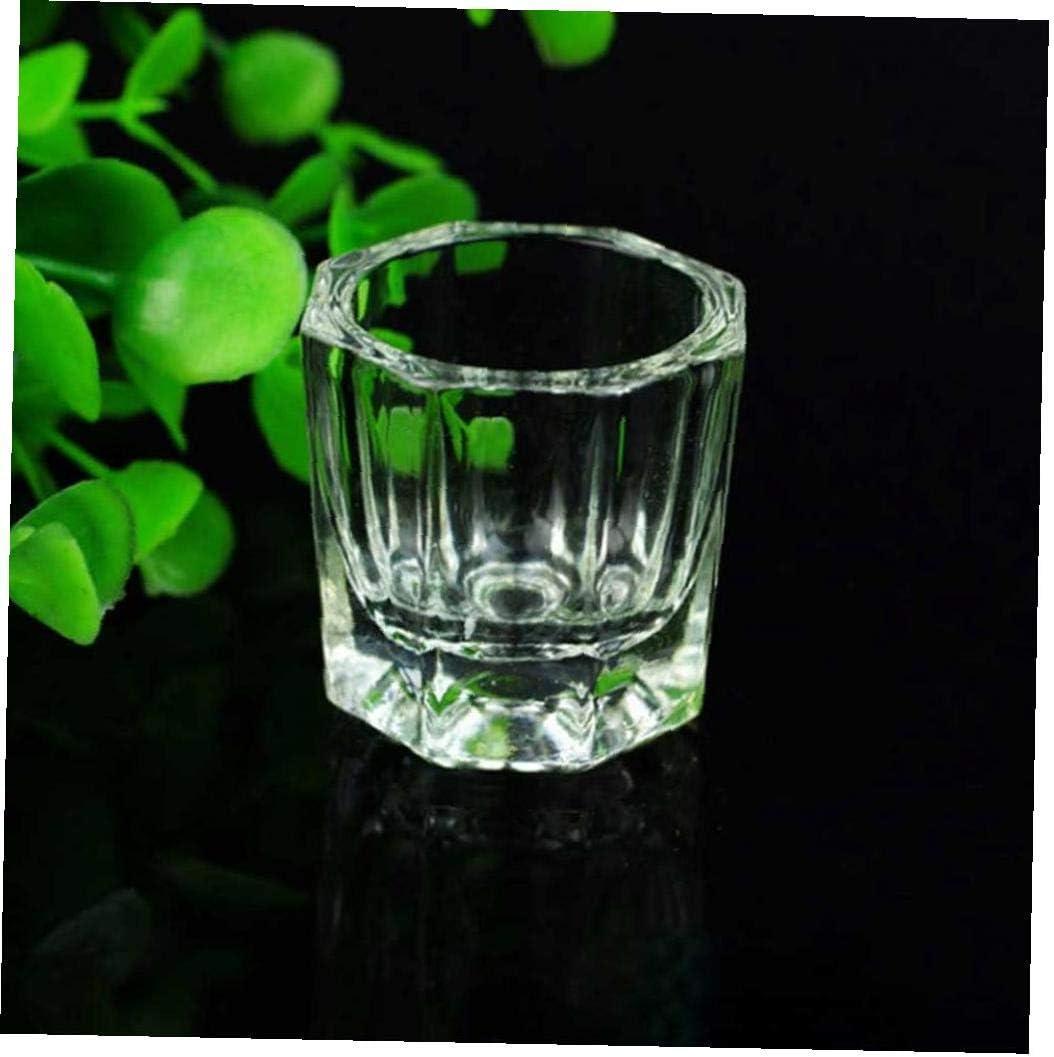 LAANCOO 2 x Herramienta l/íquido acr/ílico Taza Polvo de reemplazo de platillo de Cristal de Vidrio Taza de Vidrio Pulido Starling Esquina