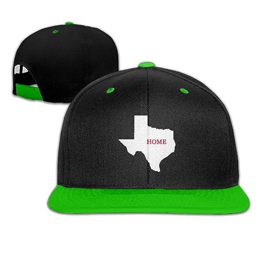 Texas Home Men s Adjustable Snapback Hip Hop Outdoor Sport Trucker Cap Hats  Flat Brim KellyGreen Baseball Cap for Men Women at Amazon Men s Clothing  store  62da689a0649
