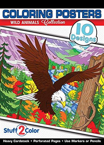 (Wild Animals - Premium Coloring Poster Book (10 Designs))