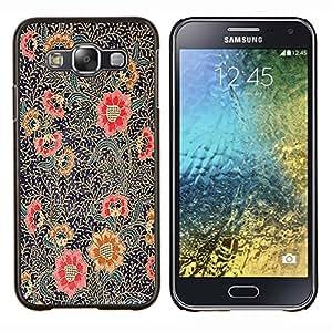 Stuss Case / Funda Carcasa protectora - Pintura Oriental Art Rojo Negro - Samsung Galaxy E5 E500