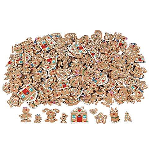 500 Fabulous Foam Self-Adhesive Gingerbread Shapes -