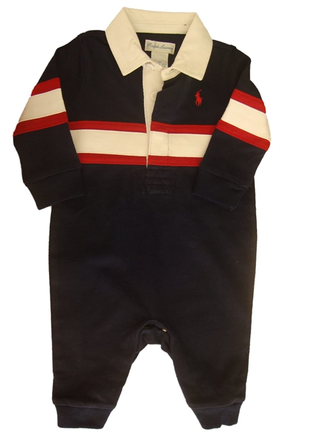 Ralph Lauren Polo Pony Baby Boys Romper one piece 3 mths