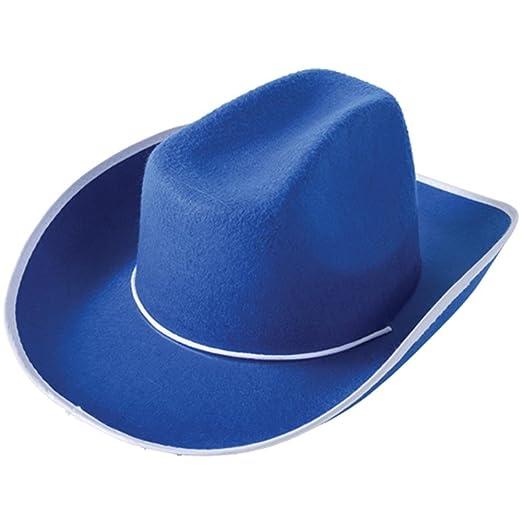 c19894b4651 Amazon.com  U.S. Toy Blue Felt Western Style Cowboy Hat Size Large ...