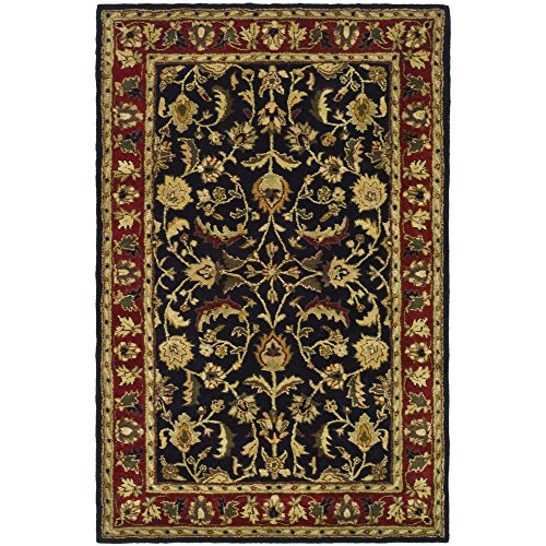 Safavieh Heritage Collection HG953A Handcrafted Traditional Oriental Black and Red Wool Area Rug (4