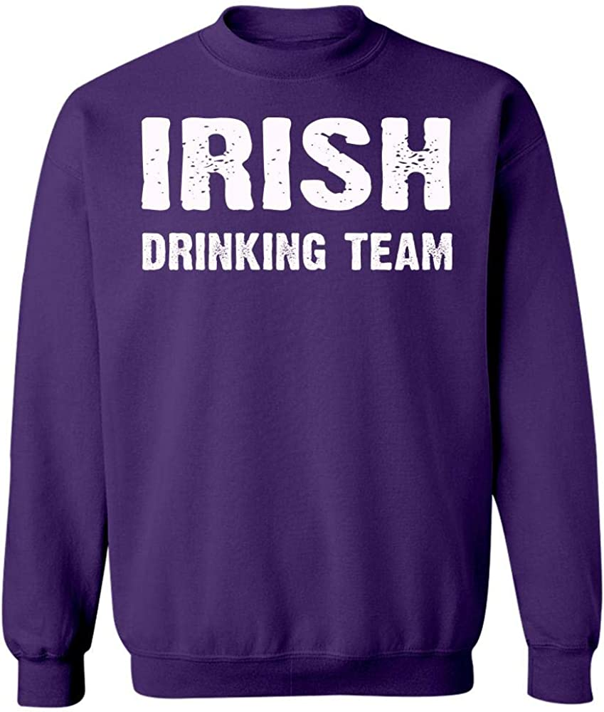 Sweatshirt Purple Cool Apparel Shop Irish Drinking Team St Patricks Day