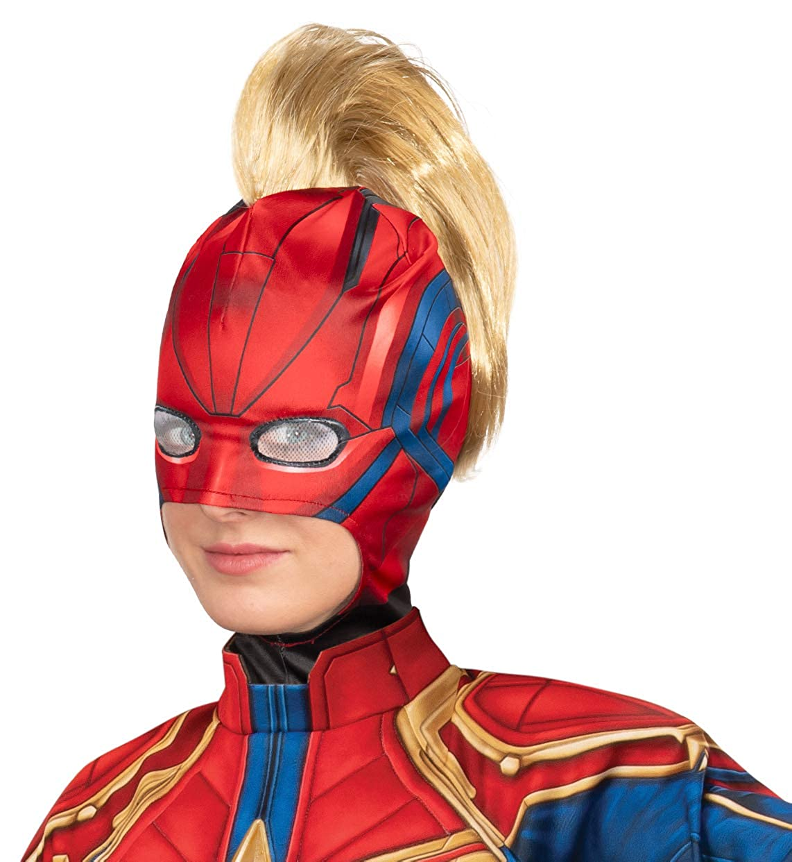 Rubies Captain Marvel Deluxe Hero Costume Suit Small Blue//Red