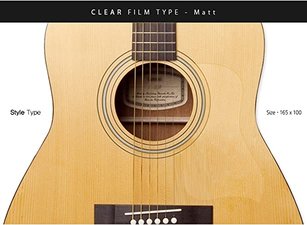 Healingshield Premium Acoustic Guitar Pickguard Style Type Clear ...