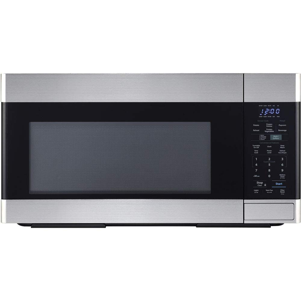 Sharp SMO1652DS Over the Range Microwave Oven with 1.6 cu. ft. Capacity, 1000 Cooking Watts, 450 CFM in Stainless Steel