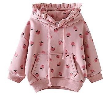 Baby Girl Kids Toddler Hoodies Jacket Outwear Sweatshirt Tracksuit Hooded Coat
